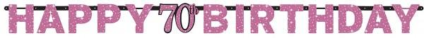 Pink 70th Birthday Girlande 2,13m