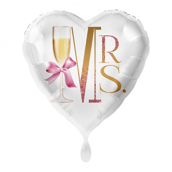 Mrs. Heart Foil Balloon 43cm