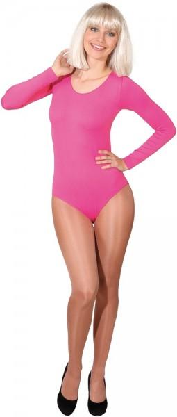 Body rosa de manga larga Dominique