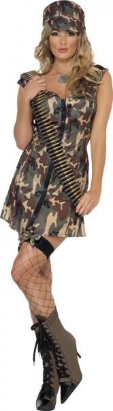 Disfraz de camuflaje soldado mujer Roxy
