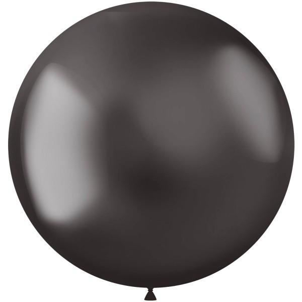 5 Shiny Star XL Luftballon anthrazit 48cm