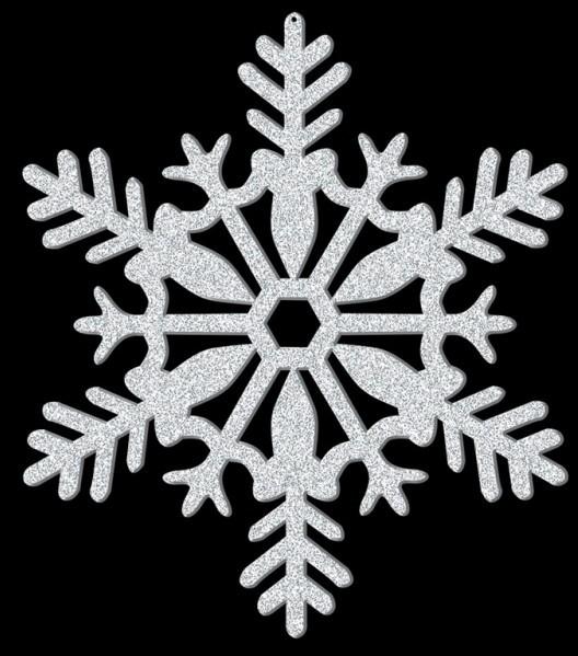 Sparkling snowflake hanger 28cm