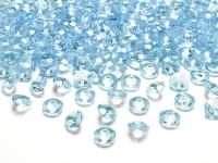 100 Streudeko Diamanten azurblau 1,2cm
