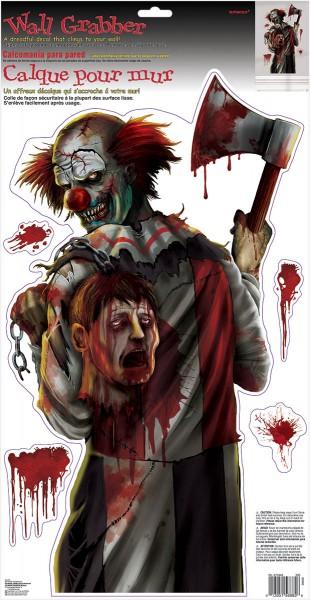 Horror circus clown muurschildering 52 x 27cm