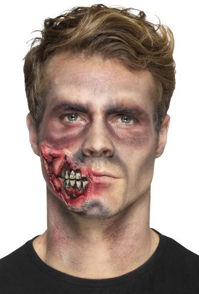 Schaurige Zombie Latexapplikation Mit Klebstoff