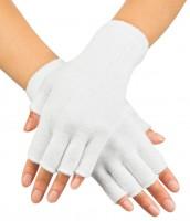 Fingerlose Handschuhe In Weiß