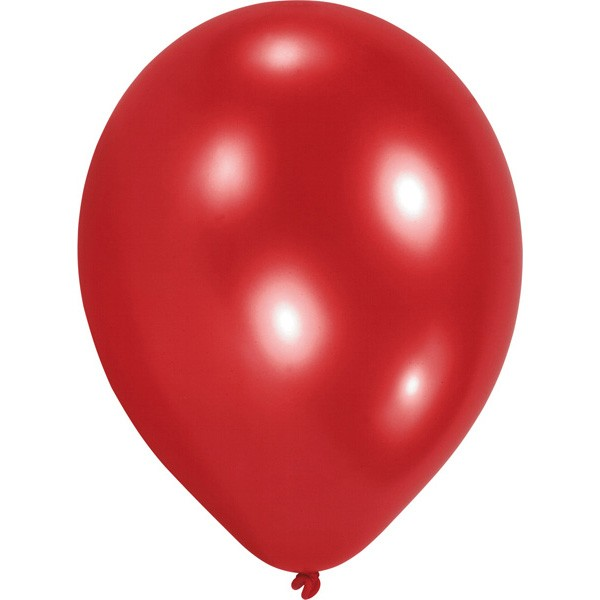 Set of 100 red balloons 23 cm