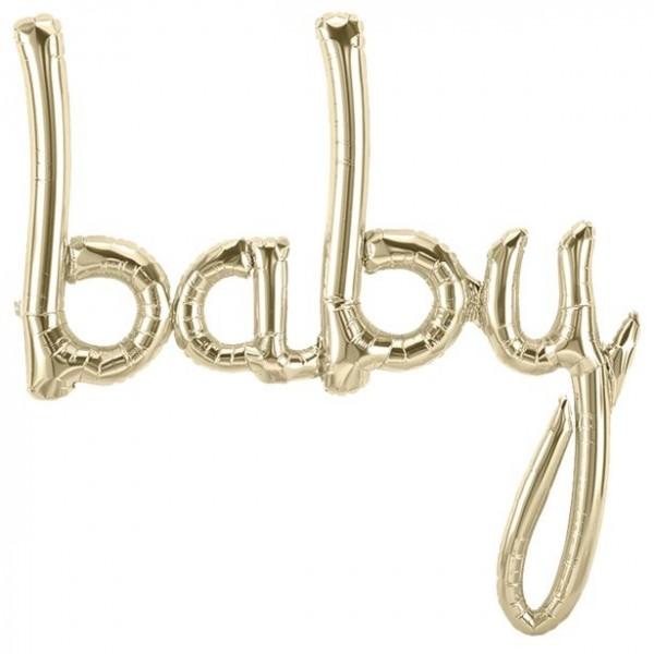 """Inscription """"bébé"""" en or blanc 86cm"""