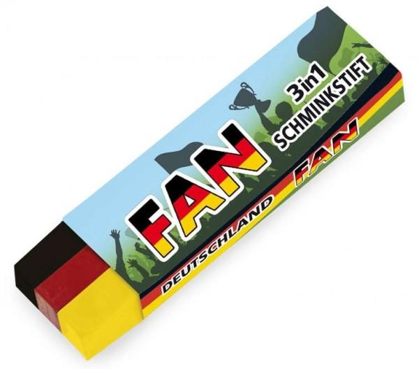 Alemania Fan Make-up Stick 3 en 1