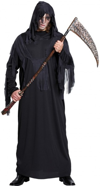 Black Halloween horror robe