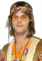 Kultige Hippie Brille Orange