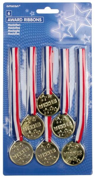 Siegerehrung Gewinner Gold Medaillen Win It All 6 Stück