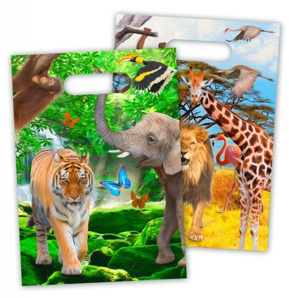 8 sacchetti regalo Wild Safari