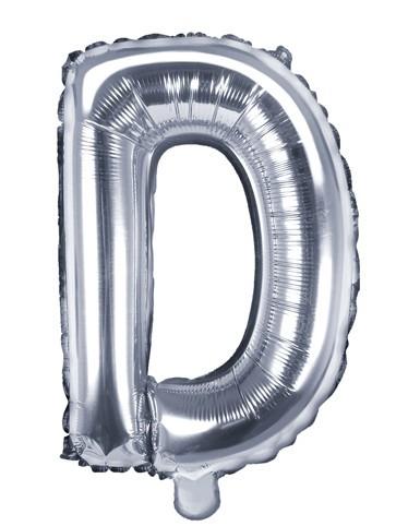 Palloncino foil D argento 35 cm