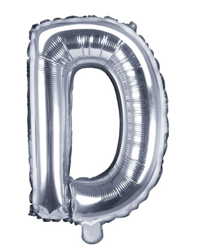 Ballon aluminium D argent 35cm