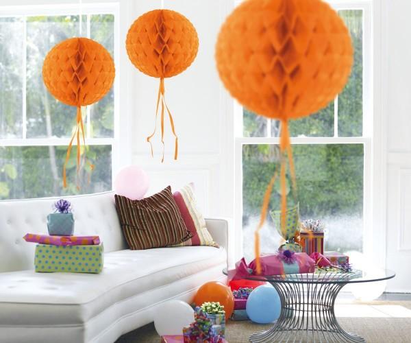 Honeycomb ball honey orange 30cm