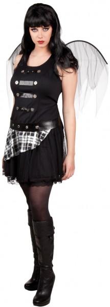 Schwarzer Gothik Engel Kostüm