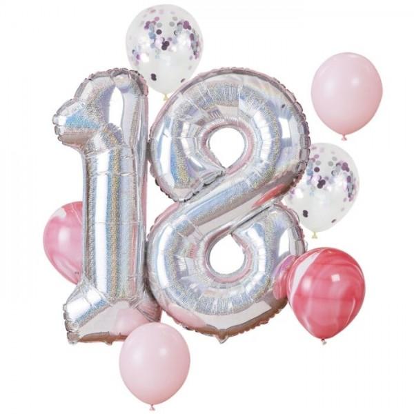 Globo de aluminio brillante del décimo octavo cumpleaños 1.02m