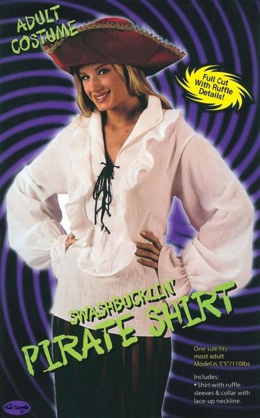 Camisa blanca con volantes pirata Elise