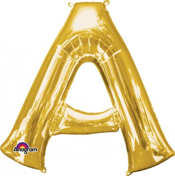 Letter foil balloon A gold 86cm