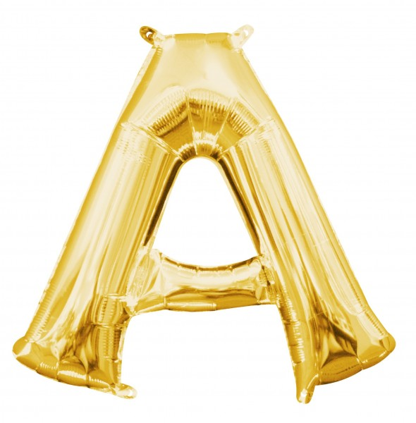 Mini foil balloon letter A gold 35cm
