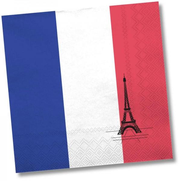 20 Frankreich Servietten Eiffelturm 33cm