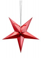 3D Christmas star red 45cm