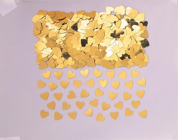 Liebesglück Herz Streudeko Gold Metallic 14g 1