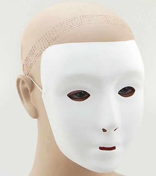 Masque classique fantôme blanc