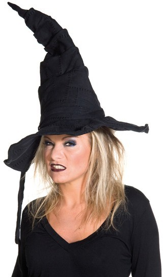 Halloween Hexenhut Schwarz Mit Flicken