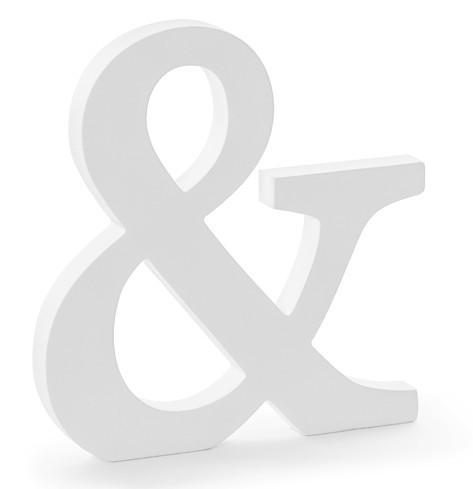 Letra de madera y blanco 19,5 x 20,5cm