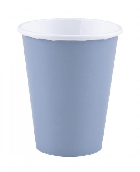 20 papieren bekers pastelblauw 266ml