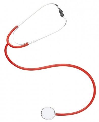 Klassisches Stethoskop Rot