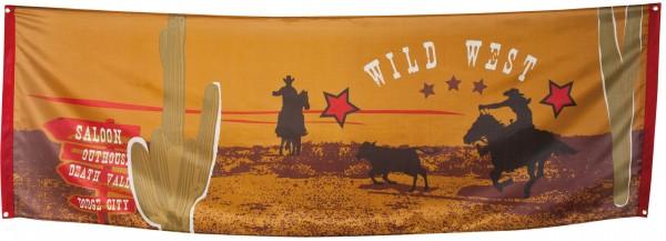 Wilder Western Banner 220x74cm