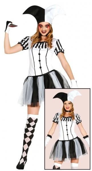 Jokerlady Harlekin Kostüm Für Damen