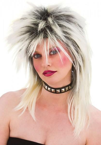 Peruka rocker z lat 80