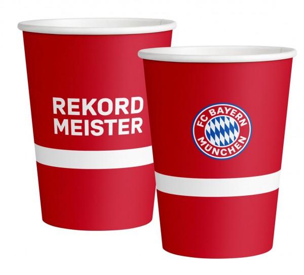 8 FC Bayern München Pappbecher 250ml