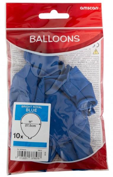 10 Royalblaue Luftballons Partydancer 27,5cm