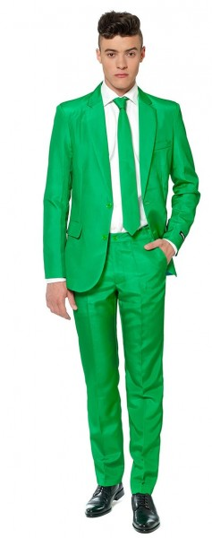 Suitmeister Solid Green Anzug 1