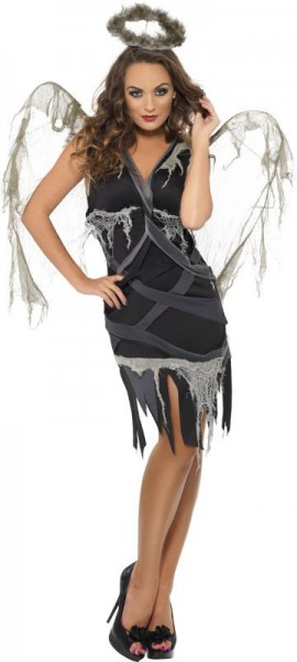 Halloween Kostüm Gothic Todesengel Verführerisch
