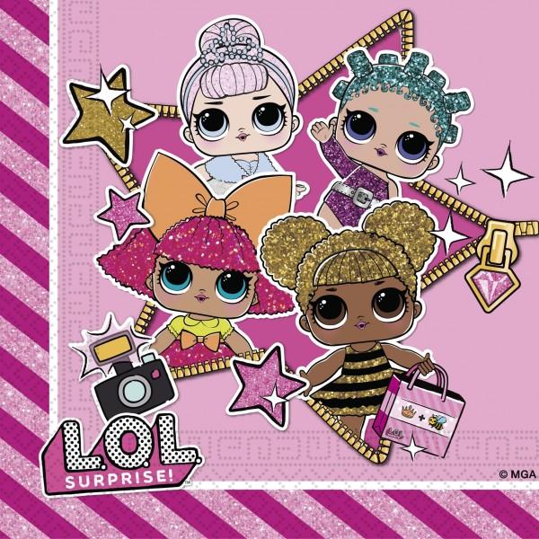 20 LOL Glam Girls servetten 33cm