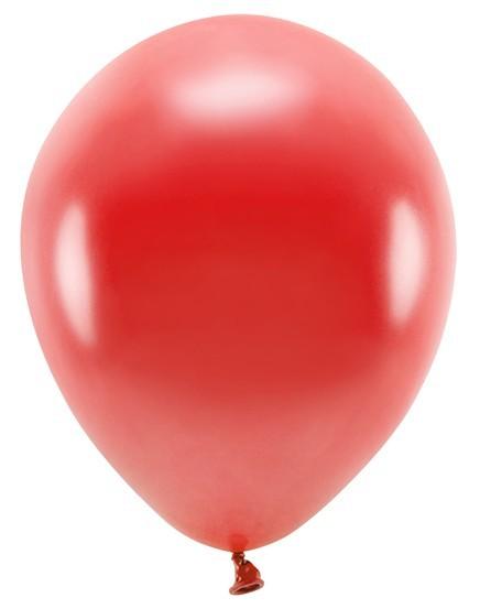 100 Eco metallic Ballons rot 30cm