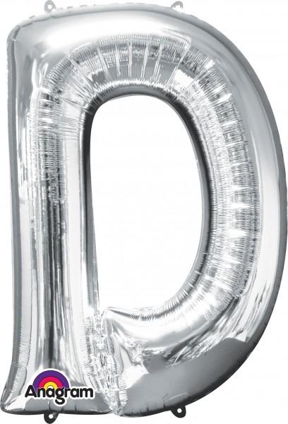 Folienballon Buchstabe D silber 83cm