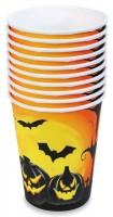 10 Halloween Pappbecher Gruselkürbis