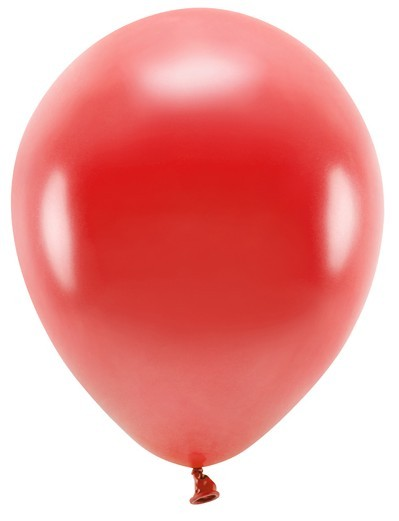 100 Eco metallic Ballons rot 26cm
