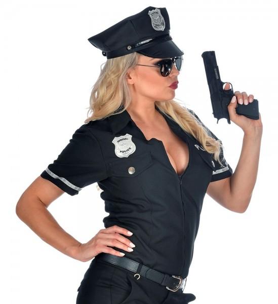 Blusa de mujer policía negra