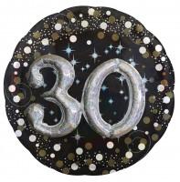 Golden 30th Birthday Folienballon 81cm