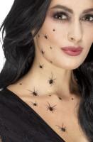 Wimmelnde Spinnen Tattoos Schwarz