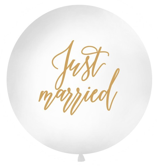 Just Married XL Ballon gold 1m