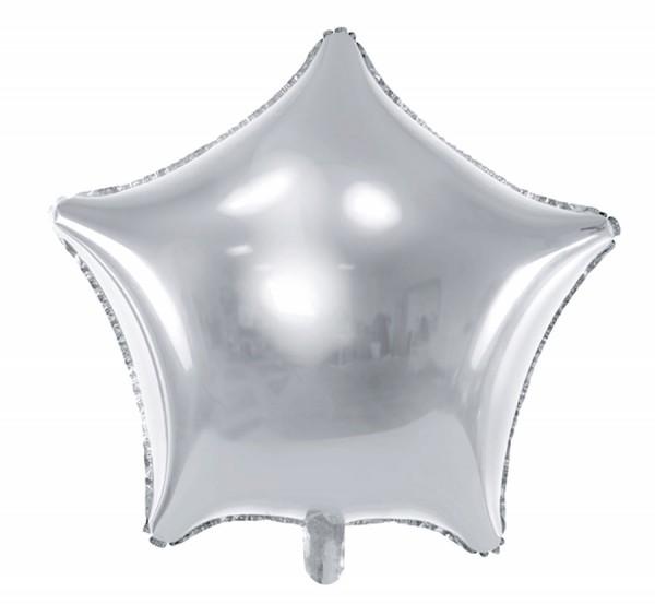 Folienballon silver Star glänzend 70cm